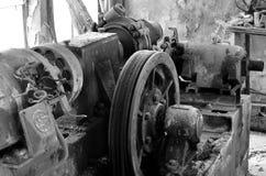 Old rusty eletrical box Stock Photo