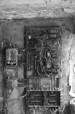 Old rusty eletrical box Stock Images