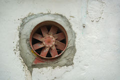 Old rusty fan does not work Stock Images