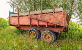 Old and rusty farm trailer Royalty Free Stock Photography