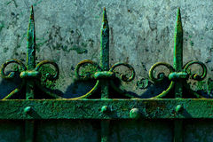 Old rusty fence Stock Image