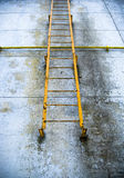 Old rusty fire exit ladder Royalty Free Stock Image