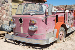 Old rusty fire vehicle Stock Photo