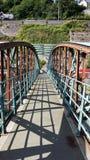 Old rusty footbridge. Found in Cobh Ireland Stock Images