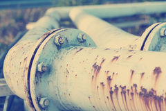 Old rusty fuel pipes Stock Image
