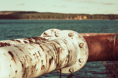 Old rusty fuel pipes Royalty Free Stock Photo