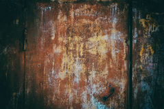 Old rusty galvanized. Royalty Free Stock Image