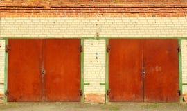 Old rusty garage gates Stock Photos