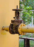 An old rusty gas control valve Stock Image
