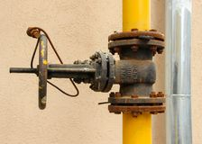 An old rusty gas control valve Royalty Free Stock Photography