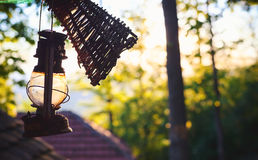 Old Rusty Gas Lamp Stock Image