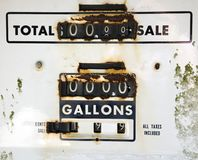Old rusty gas meter Stock Photo