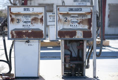 Old rusty gas pumps Royalty Free Stock Image