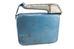 Old rusty  gasoline jerry can with lid Stock Photography