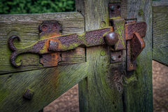 Old rusty gate latch Royalty Free Stock Photos