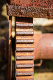Old Rusty Gear on Machinery Royalty Free Stock Image