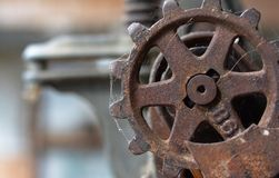 Old rusty gear farm industry machinery  Royalty Free Stock Photos