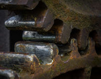 The old and rusty gear in sunlight Royalty Free Stock Images