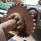Old rusty gear wheel Stock Image