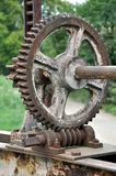 Old rusty gears. Detailed view of old rusty gears Stock Photo