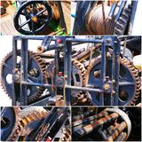 Old rusty gears machine collage of photo Royalty Free Stock Image
