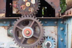 Old rusty gears Stock Images