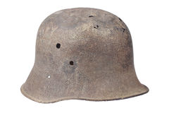 Old rusty german helmet ww1 period Royalty Free Stock Photo