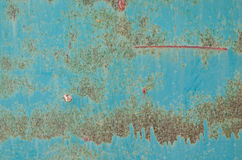 Old and rusty green color steel plate Stock Images