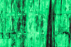 Old rusty green iron wall background Royalty Free Stock Photos