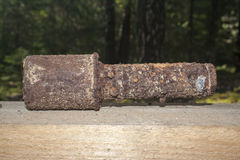 Old rusty grenade Stock Image