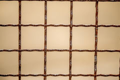Old rusty grid. With pink background Stock Photo