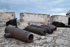 Old Rusty Guns Royalty Free Stock Images