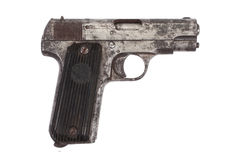 Old rusty handgun Royalty Free Stock Photo