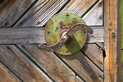 Old rusty handle Stock Images