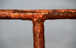 Old rusty handrail. Royalty Free Stock Photography