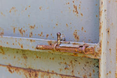 Old rusty hasp Stock Images