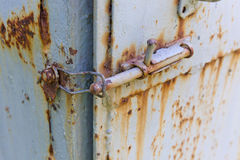 Old rusty hasp Royalty Free Stock Images