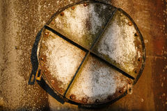 Old rusty hatch Stock Photography
