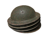 Old rusty helmets Royalty Free Stock Photo