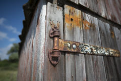 Old Rusty Hinge Stock Image