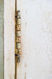 Old rusty hinges Royalty Free Stock Photos