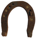 Old rusty horse shoe Royalty Free Stock Image