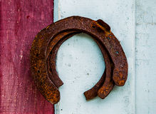 The Old rusty horseshoe Stock Photo