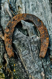 Old rusty horseshoe. Royalty Free Stock Photos