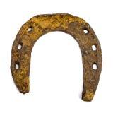 Old rusty horseshoe. Isolated image Stock Image