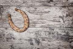 Old rusty horseshoe Stock Photography