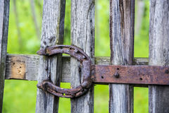 Old and rusty horseshoe Royalty Free Stock Image