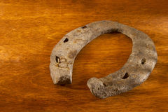 Old rusty horseshoe Stock Image