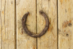 Old rusty horseshoe Royalty Free Stock Image