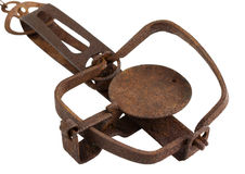 Old rusty hunting trap Stock Image